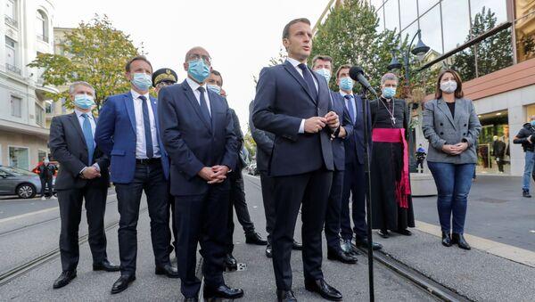 Macron a Nizza - Sputnik Italia