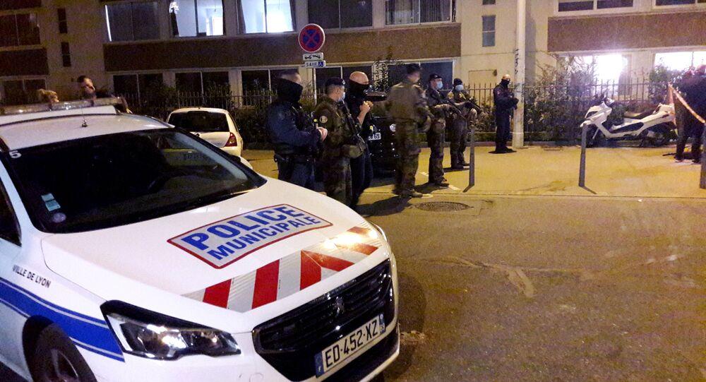 Il luogo dell'attentato a Lione