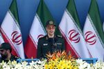 Chief of the General Staff of Iran's Armed Forces, General Mohammad Hossein Bagheri delivers a speech during a military parade marking the 36th anniversary of Iraq's 1980 invasion of Iran, in front of the shrine of late revolutionary founder Ayatollah Khomeini, just outside Tehran, Iran, Wednesday, Sept. 21, 2016