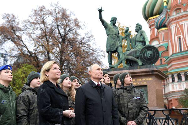 Vladimir Putin celebra la Giornata dell'Unità Nazionale, il 4 novembre 2020 - Sputnik Italia