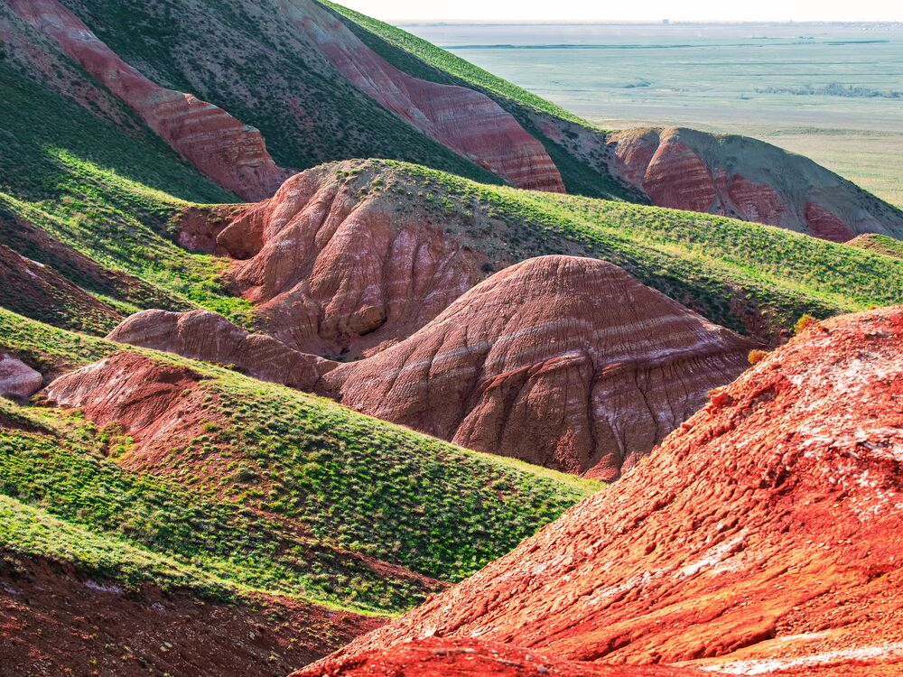 Monte Grande Bogdo, regione di Astrakhan, Russia.