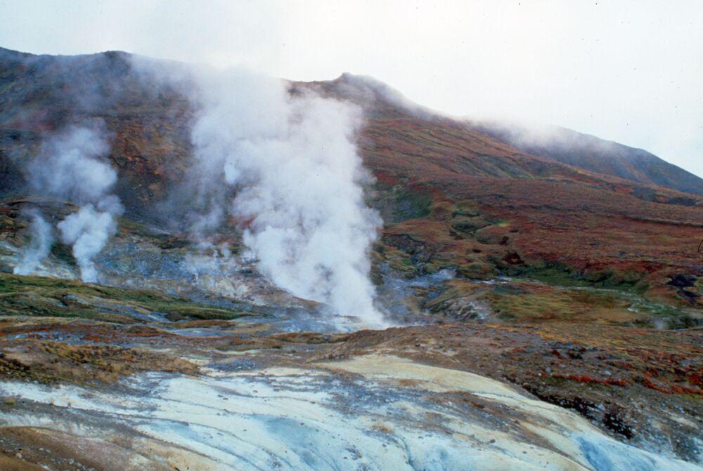 Vulcano Kambalny in Kamchatka, Russia.