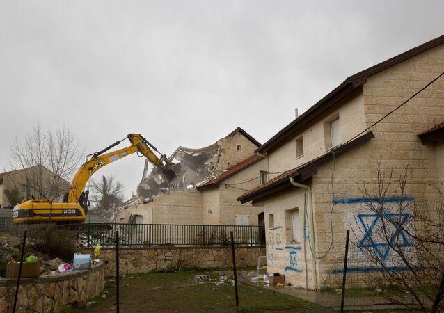 Demolizioni in Cisgiordania (foto d'archivio)