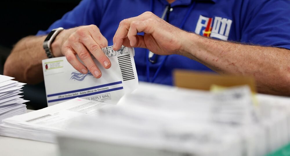 Mail-in ballots are counted in Lehigh County, Pennsylvania, U.S., November 4, 2020