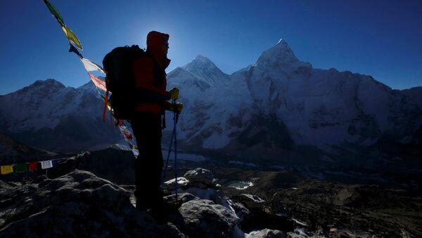Un escursionista nel Nepal (foto d'archivio) - Sputnik Italia