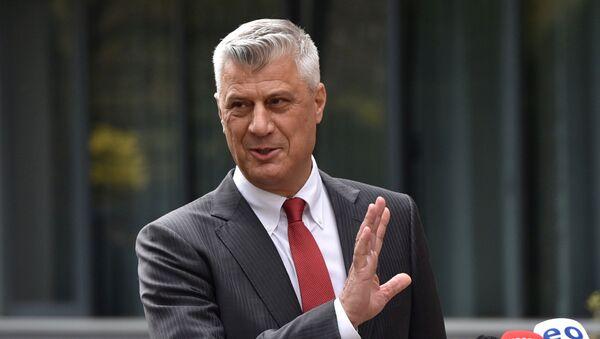 L'ex presidente dell'autoproclamata repubblica del Kosovo Hashim Thaci - Sputnik Italia