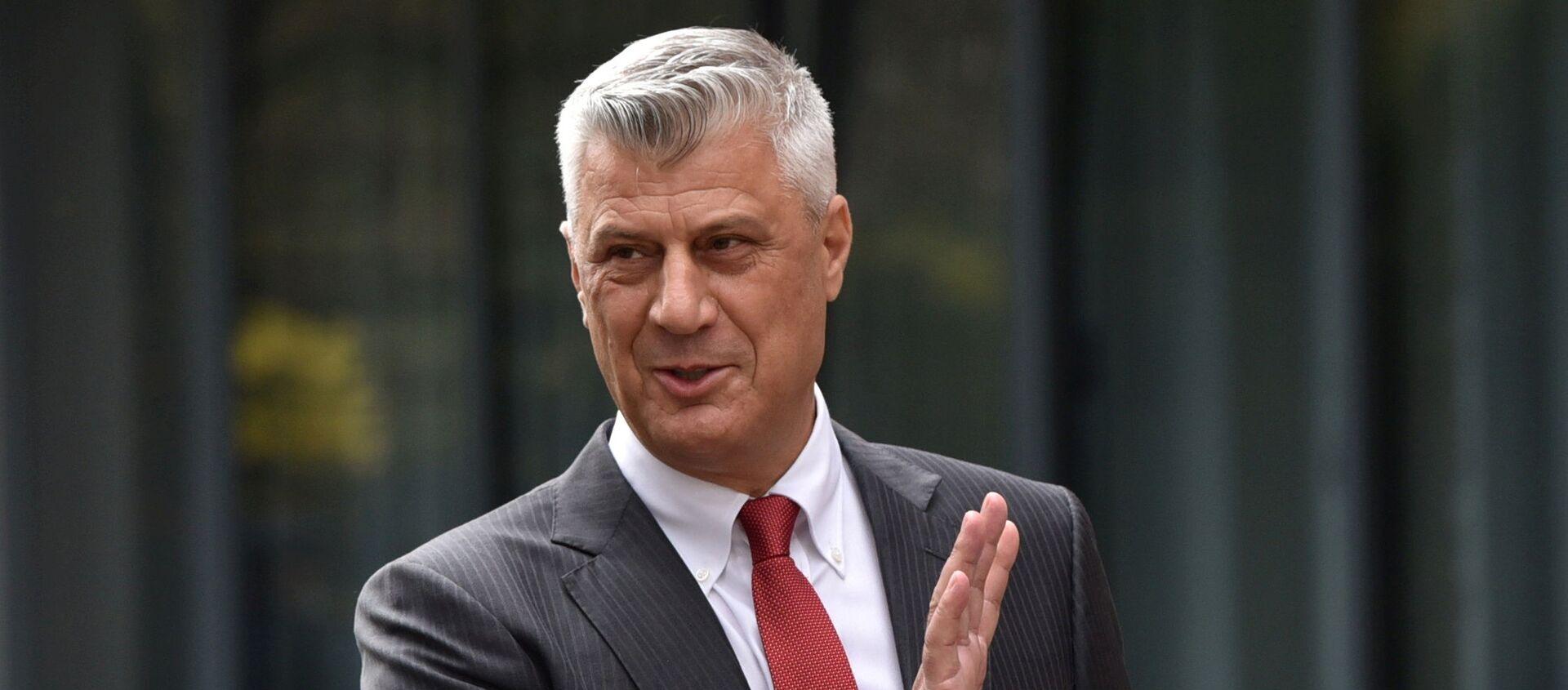L'ex presidente dell'autoproclamata repubblica del Kosovo Hashim Thaci - Sputnik Italia, 1920, 09.11.2020