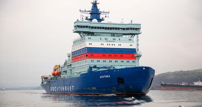 Rompighiaccio nucleare russa Arktika entrerà in servizio ufficialmente questa settimana