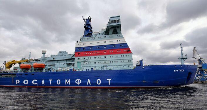 Rompighiaccio nucleare russa Arktika