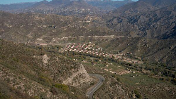 A view shows a settlement in the region of Nagorno-Karabakh, November 10, 2020. - Sputnik Italia
