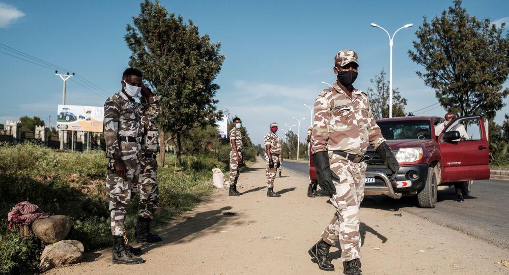 Members of Tigray police (File)