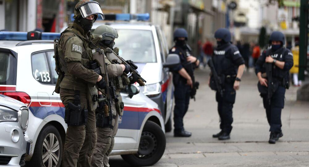 La polizia a Vienna