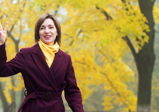 La nuova presidente della Moldavia Maia Sandu