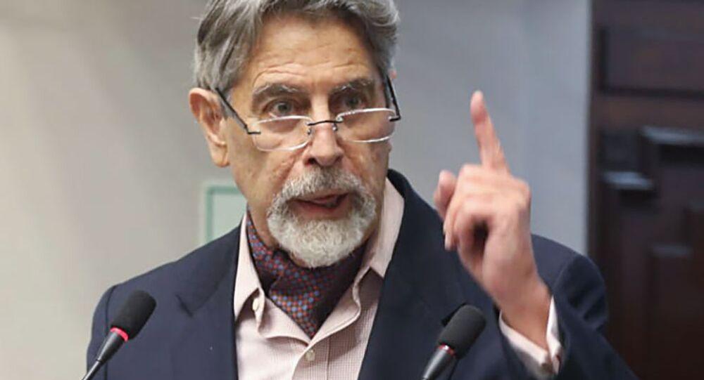 Francisco Sagasti, presidente del Perú