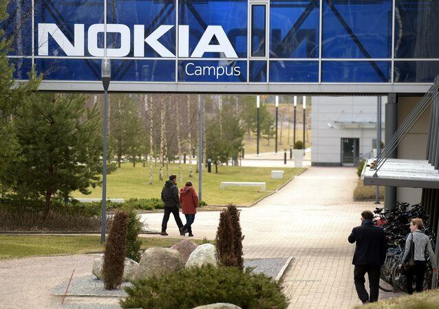 La sede centrale di Nokia si trova a Espoo, in Finlandia, il 6 aprile 2016.