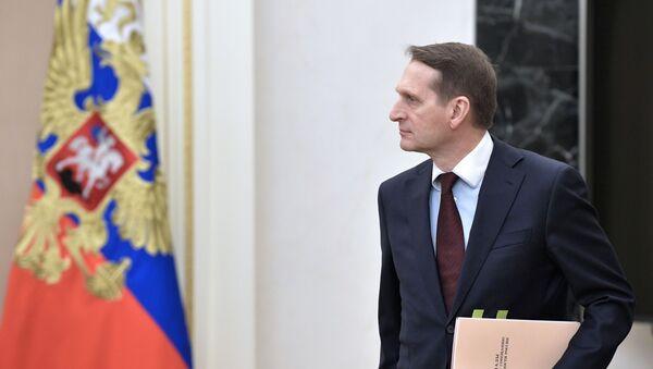 Директор Службы внешней разведки Сергей Нарышкин - Sputnik Italia