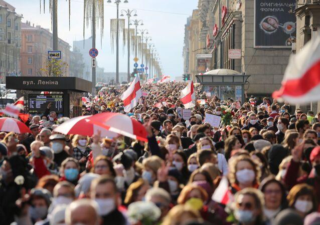 Proteste a Minsk (foto d'archivio)