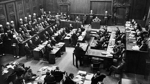 В зале суда Нюрнбергского процесса - Sputnik Italia