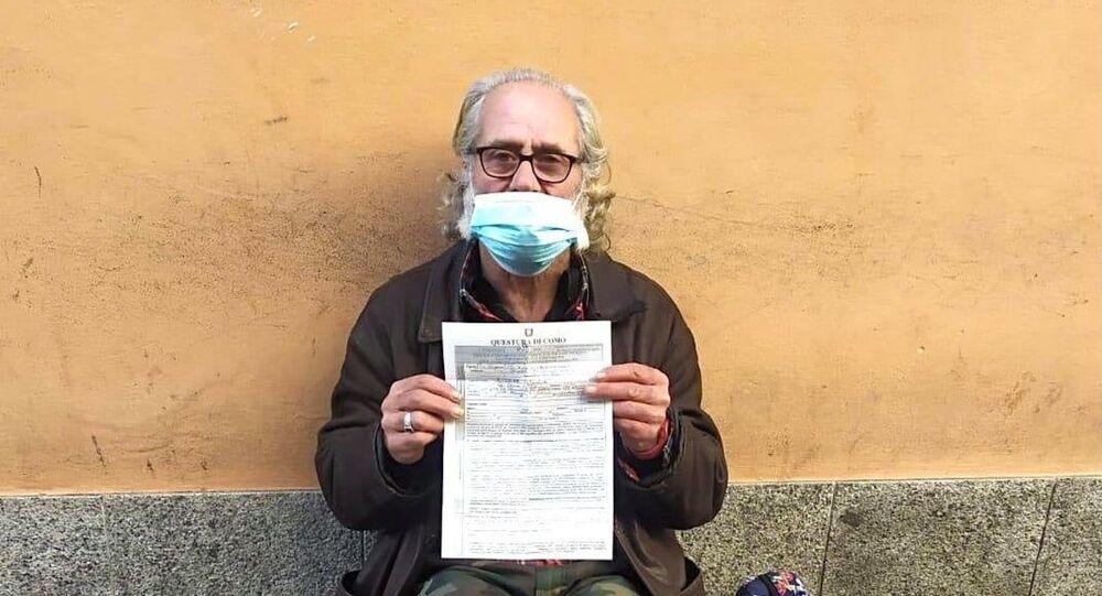 Un senzatetto ha ricevuto una multa per aver violato il coprifuoco