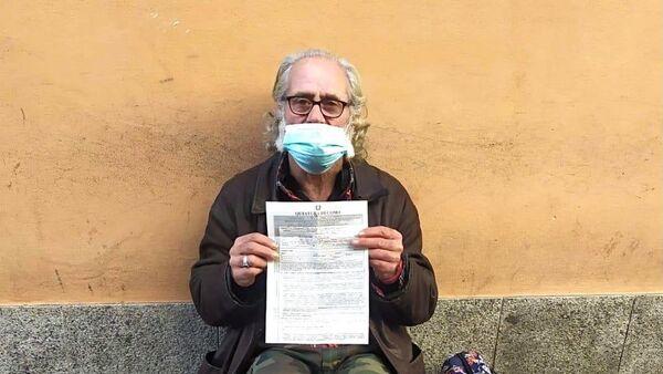 Un senzatetto ha ricevuto una multa per aver violato il coprifuoco  - Sputnik Italia