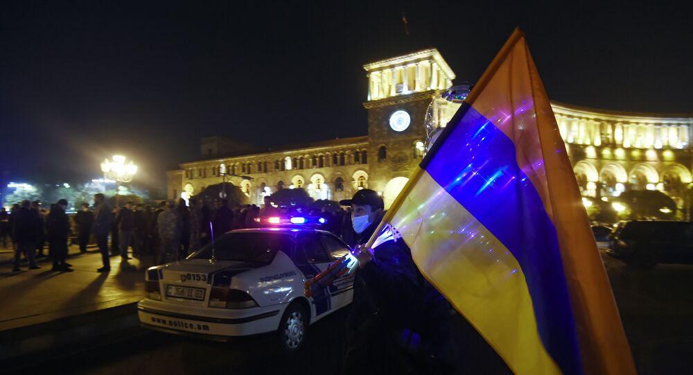 Proteste in Armenia (foto d'archivio)