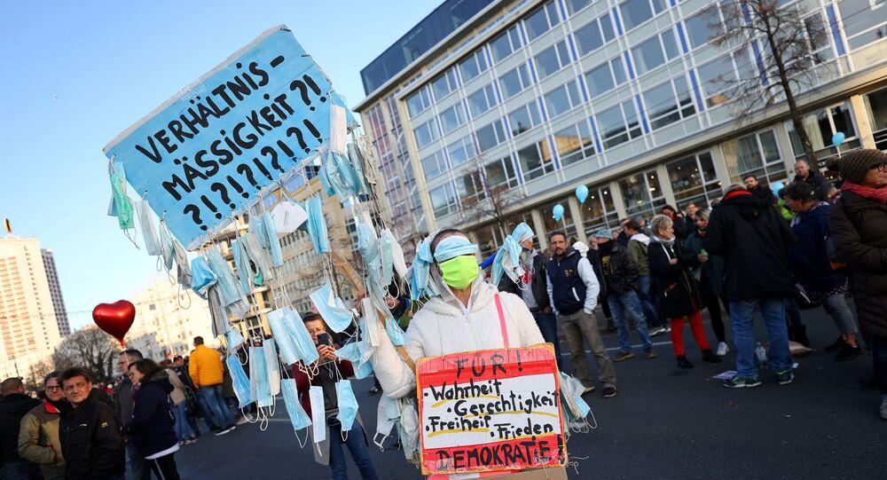 Protesta anti-lockdown a Lipsia