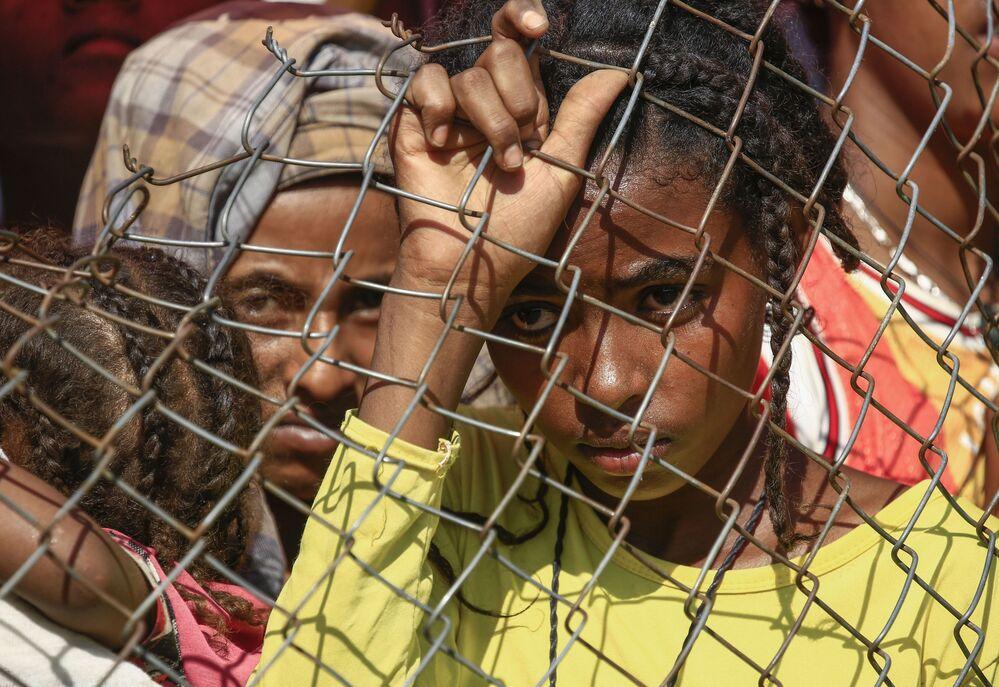 Profughi etiopi in un campo profughi in Sudan