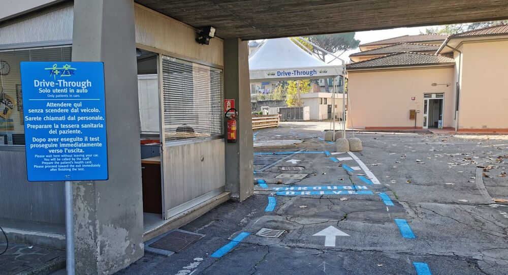 Drive through dell'ospedale pediatrico Meyer, Firenze