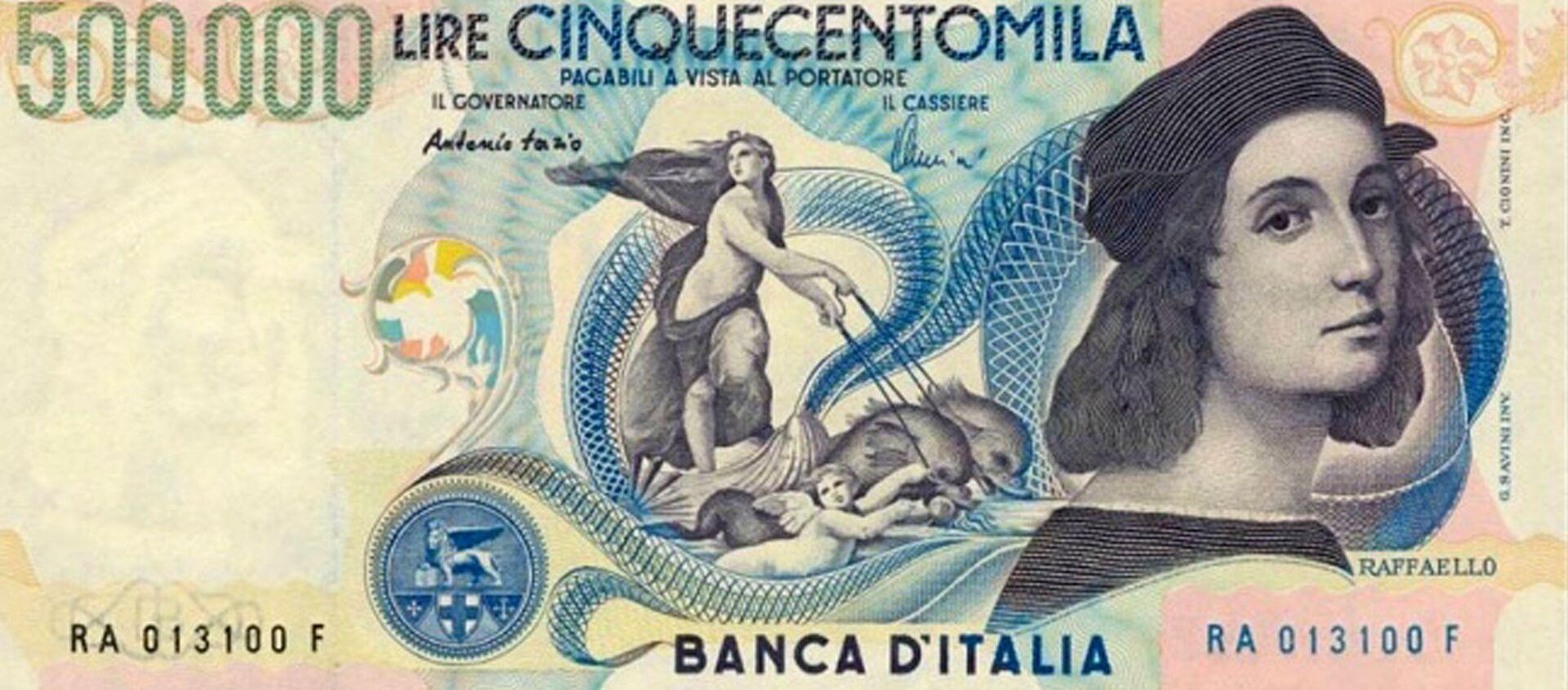 Banconota da 500mila lire - retro, autoritratto di Raffaello - Sputnik Italia, 1920, 25.11.2020
