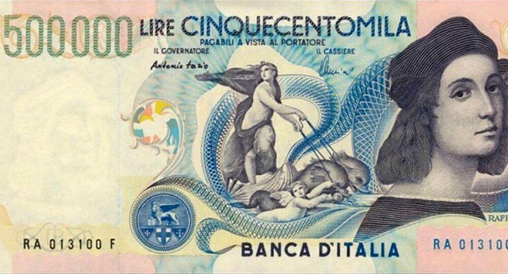 Banconota da 500mila lire - retro, autoritratto di Raffaello