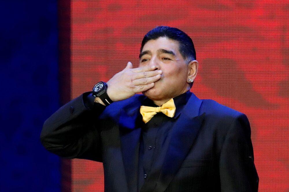 La leggenda del calcio Diego Maradona al Cremlino, 2017