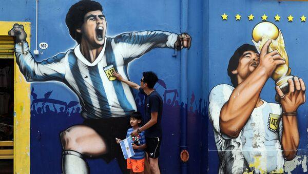 Commozione per la scomparsa di Maradona in Argentina - Sputnik Italia