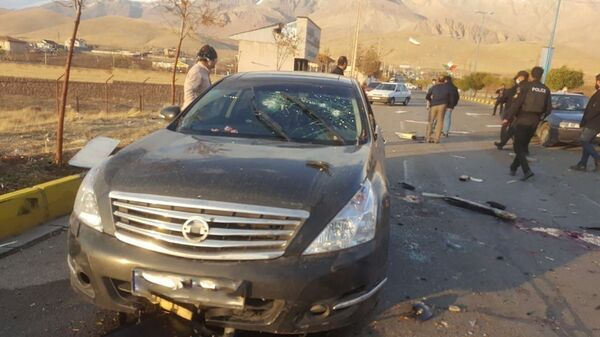 A view shows the scene of the attack that killed Prominent Iranian scientist Mohsen Fakhrizadeh, outside Tehran, Iran, November 27, 2020. - Sputnik Italia
