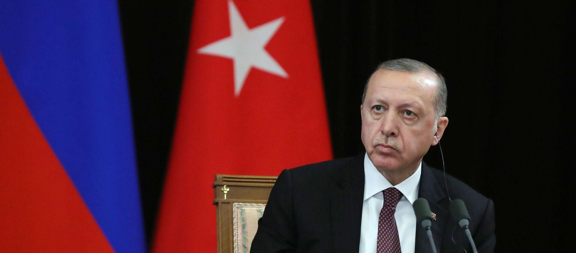 Il presidente turco Recep Tayyip Erdogan - Sputnik Italia, 1920, 08.05.2021