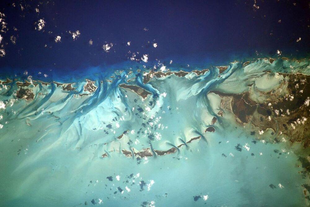 Una foto delle Bahamas fatta dalla Stazione Spaziale Internazionale.