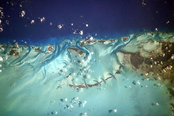 Una foto delle Bahamas fatta dalla Stazione Spaziale Internazionale.  - Sputnik Italia