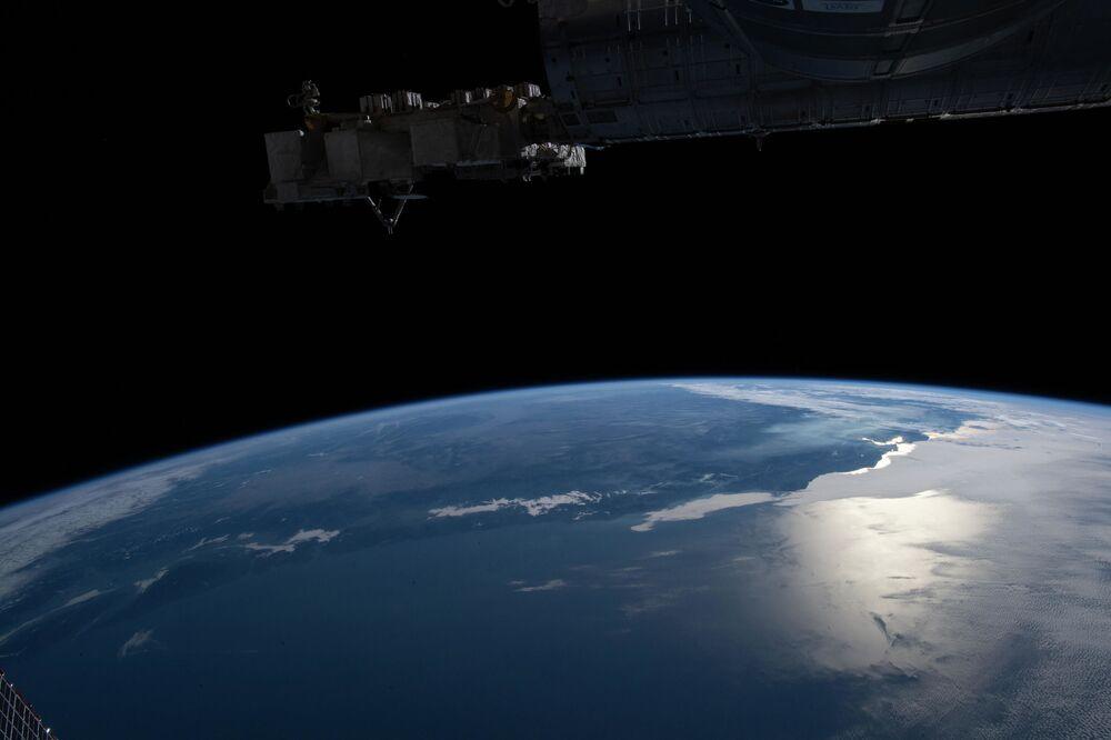 Una foto della baia di San Francisco fatta dalla Stazione Spaziale Internazionale.