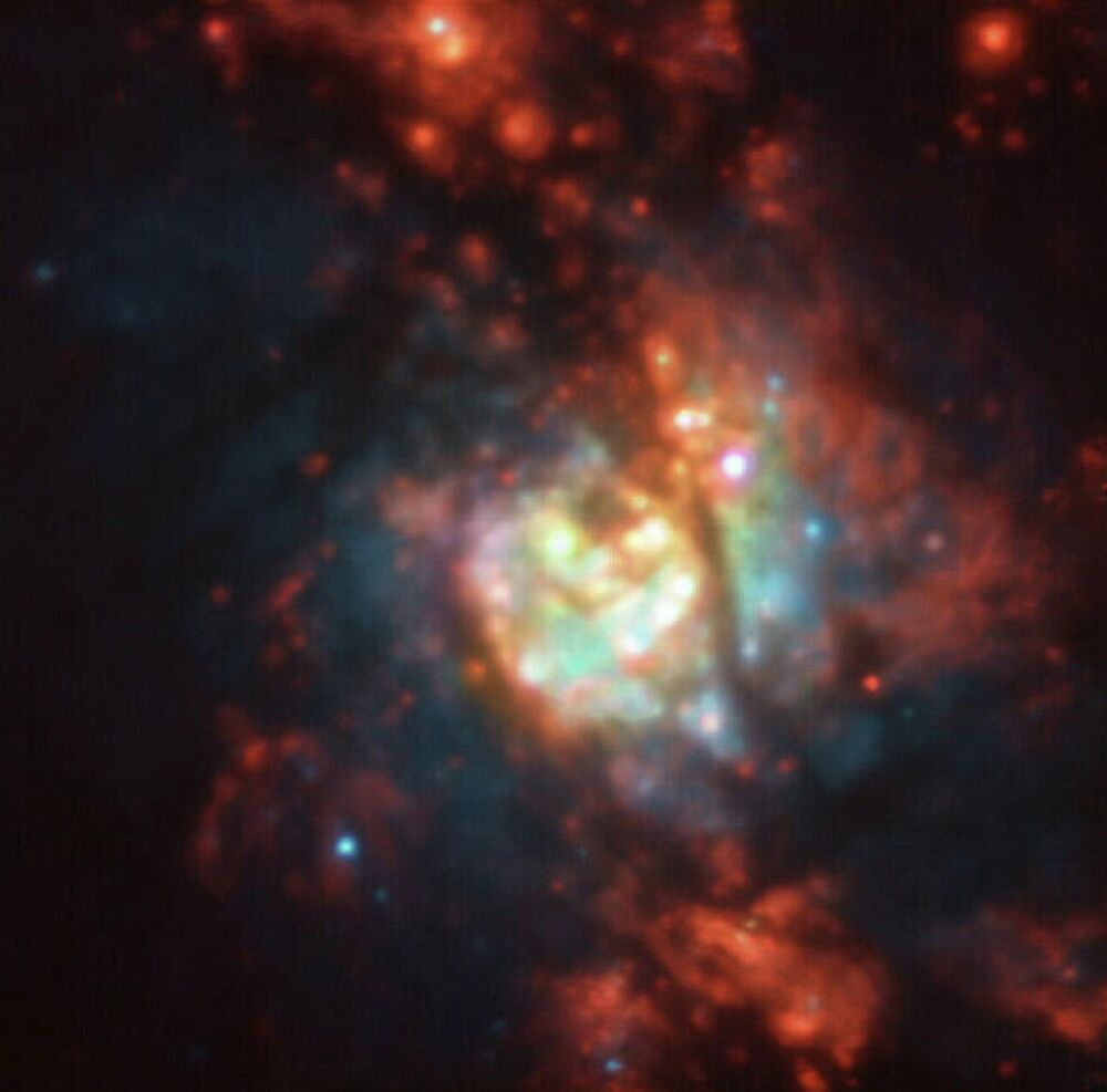 Migliaia di nuove stelle nella galassia NGC 5236 riprese dal telescopio dell'ESO all'Osservatorio del Cile.