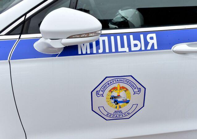 Macchina della polizia a Minsk