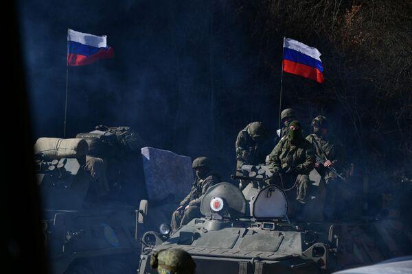 Le forze di pace russe in Nagorno-Karabakh.  - Sputnik Italia