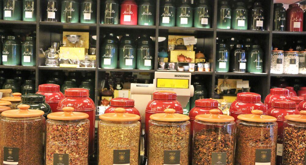 Un negozio di tè