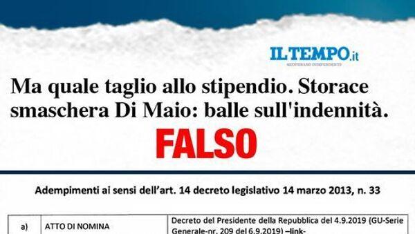 Polemica Di Maio Il Tempo sulle indennità - Sputnik Italia