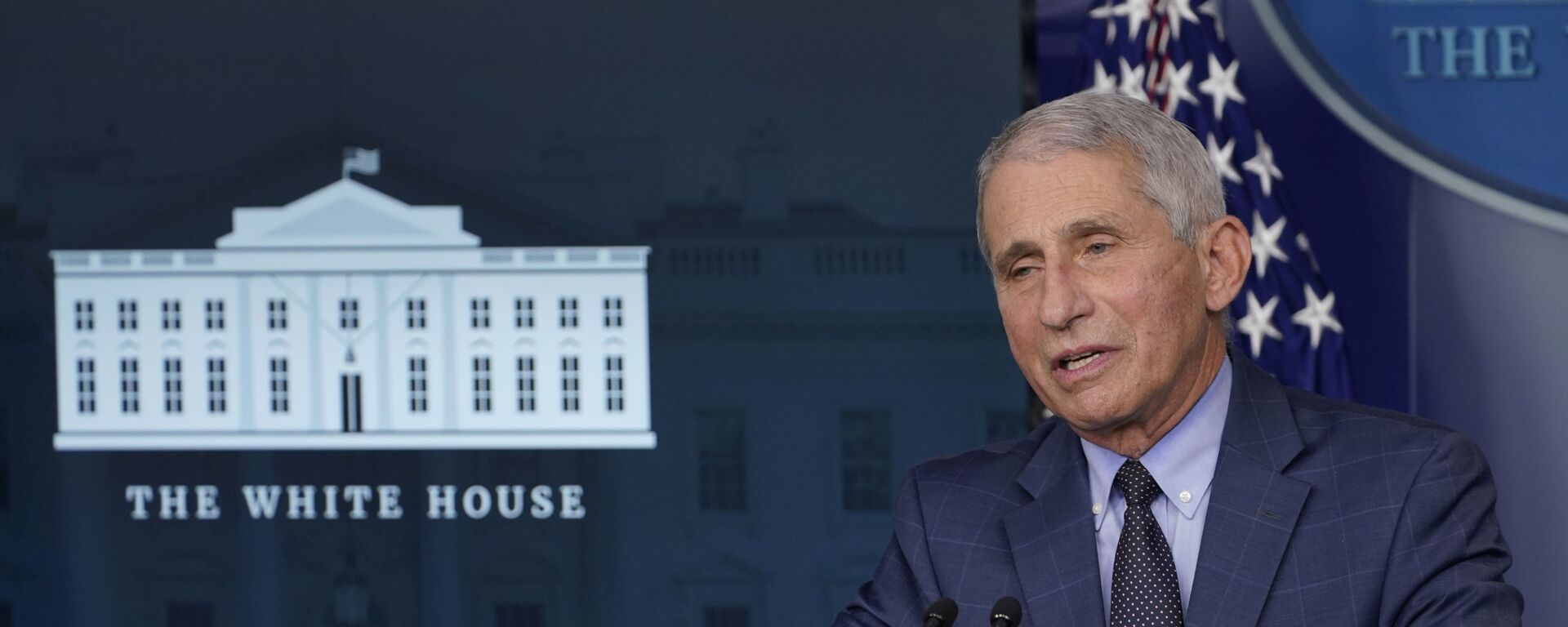 Dr. Anthony Fauci, director of the National Institute of Allergy and Infectious Diseases, speaks during a briefing with the coronavirus task force at the White House in Washington, Thursday, Nov. 19, 2020 - Sputnik Italia, 1920, 19.05.2021