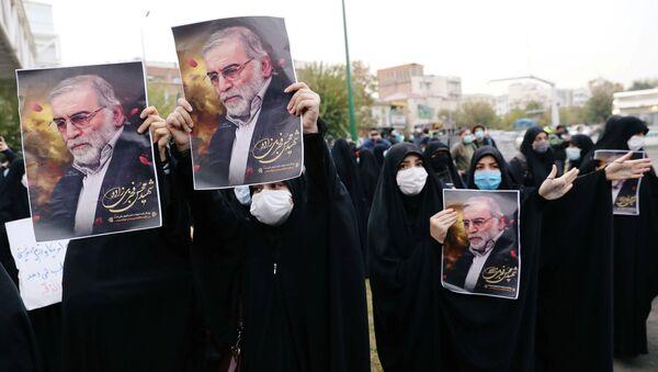 La manifestazione dopo l'uccisione del fisico nucleare iraniano Mohsen Fakhrizadeh - Sputnik Italia