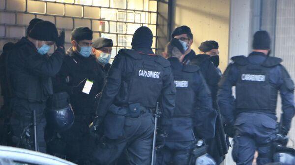Carabinieri nel corso della manifestazione a Cernusco sul Naviglio - Sputnik Italia