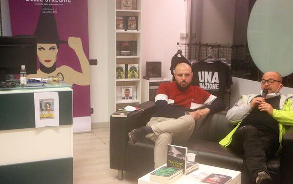 Presentazione di un libro nella libreria Altaforte a Cernusco sul Naviglio  - Sputnik Italia
