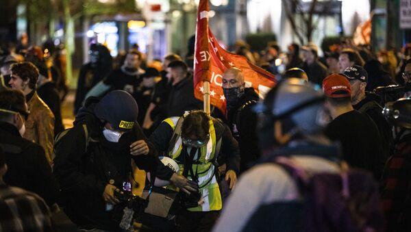 Manifestazioni Antifa USA - Sputnik Italia