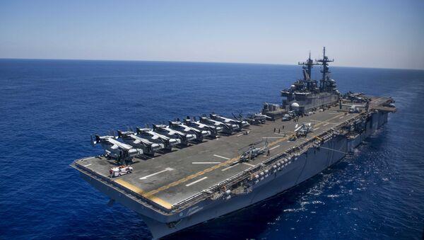 The amphibious assault ship USS Wasp (LHD 1) - Sputnik Italia