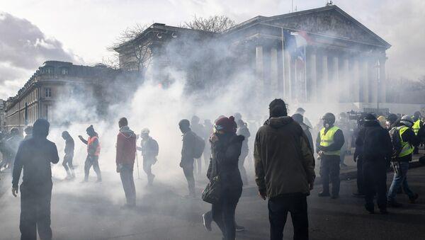 Proteste davanti all'Assemblea nazionale a Parigi - Sputnik Italia