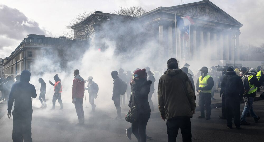 Proteste davanti all'Assemblea nazionale a Parigi